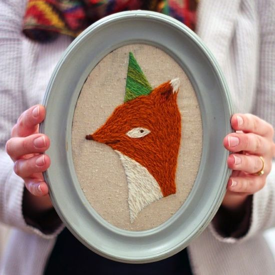 Party Fox Crewel Emb