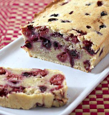 Cake aux fruits rouges et lait de coco - �d�lices : Recettes de cuisine faciles et originales !