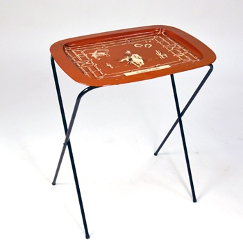 Metal TV trays were a must have...