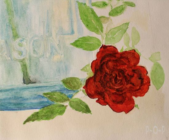 Water color rose tutorial