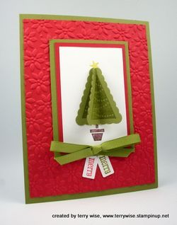 Love this simple Christmas card...made with the pennant punch from Stampin Up.