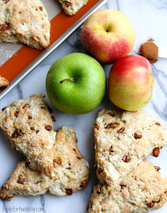Apple Cinnamon Scones. #autumn #food #scones #breakfast #brunch
