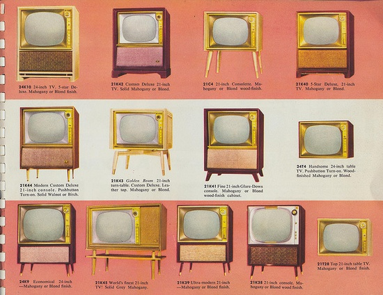 13 Makes and Models    Page 12 of the Motorola TV for '56 catalog.