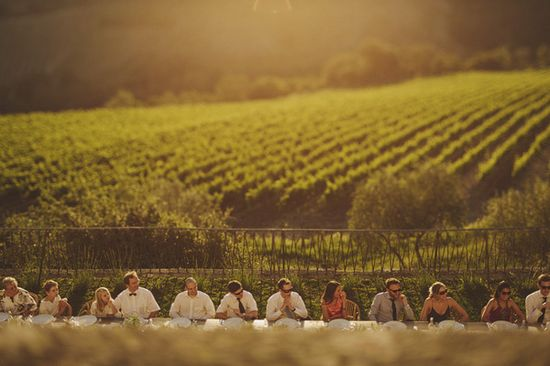sunset wedding reception photo by Ed Peers Photography