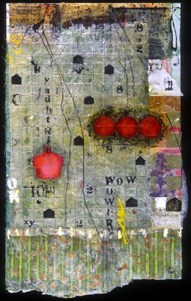 This is a very good example of mixed media Encaustic art . . . love Mary Black's work
