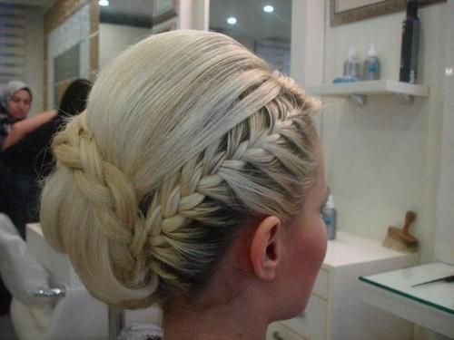 Braided updo #wedding #hair