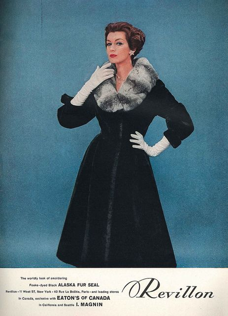The kind of endlessly lovely 1950 winter coat I always hope I'll chance upon while out thrifting. #vintage #fashion #1950s #coat