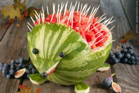 Hedgehog fruit salad