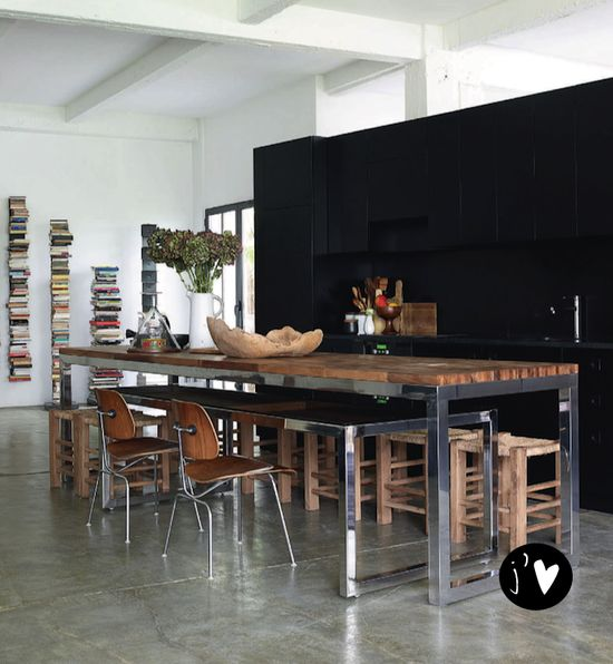 French By Design: Mix : Black Kitchens