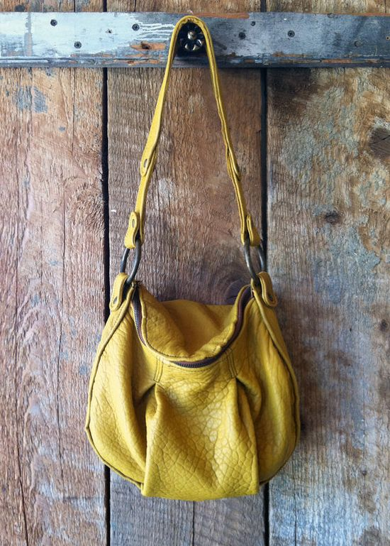 Ronnie Handbag Pleated Leather Purse by littlewingsdesigns on Etsy, $227.00