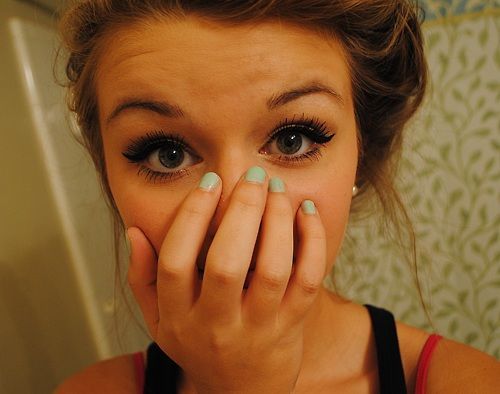 eye makeup. .