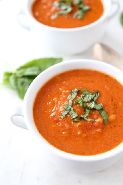 Creamy Tomato Orzo Soup Recipe from www.twopeasandthe...