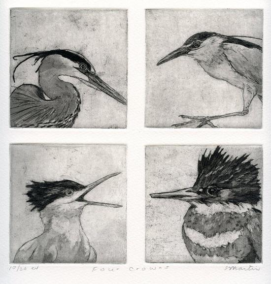 Etching of Birds by stephaniemartinart