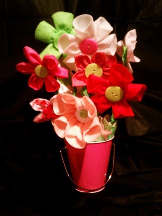 Handmade fabric flower #handmade knives #handmade charms #bc rich handmade #handmade liquid soap