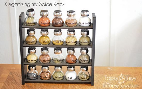 Organizing my Spice Rack
