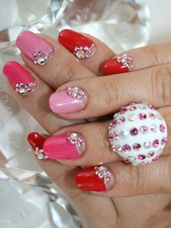 Creative nail art design.
