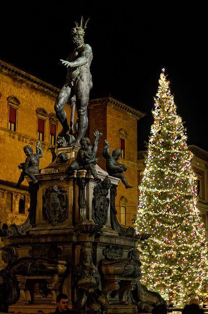 Christmas in Piazza Maggiore, Bologna, Italy
