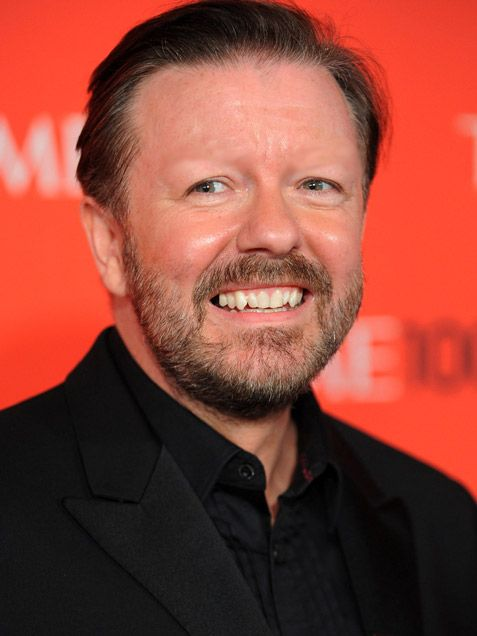 Celebrities with no eyebrows: Ricky Gervais