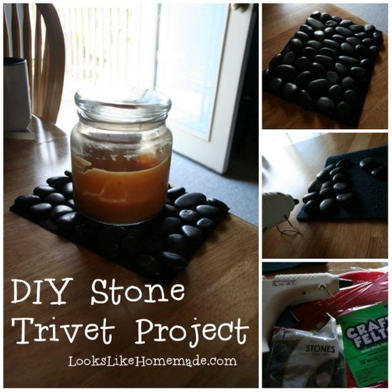 DIY Stone Trivet Project