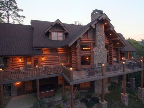 Magnificent Custom Log Home