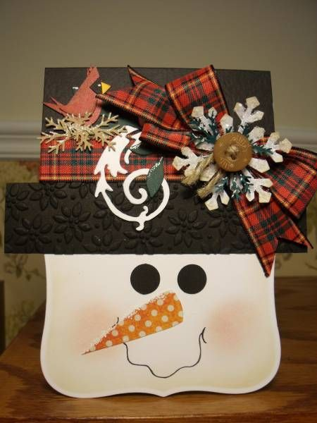 Snowman Gift Card Holder by mitchygitchygoomy - Cards and Paper Crafts at Splitcoaststampers