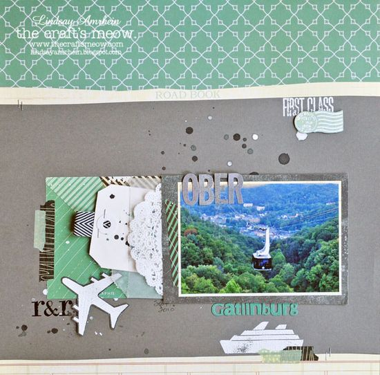 Fun travel layout by Lindsay using Studio Calico's City of Lights kit!