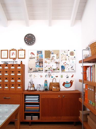 Beautiful Furniture for Storage of Art Supplies and paper organisation