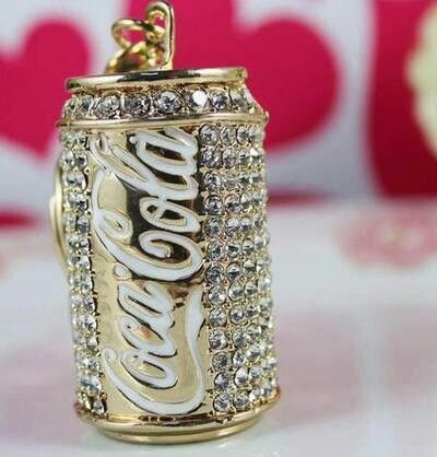 A bedazzled coke can...now if only this were diet coke.