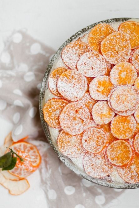 Citrus Cake....Sweet & tangy citrus cake with chewy, caramelized clementines.