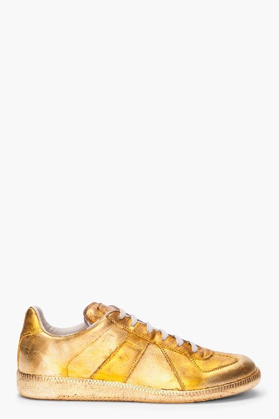 MAISON MARTIN MARGIELA Gold Foil Leather Sneakers