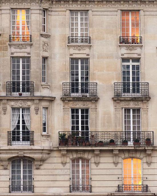 Ile Saint Louis Balconies, The Paris Print Shop