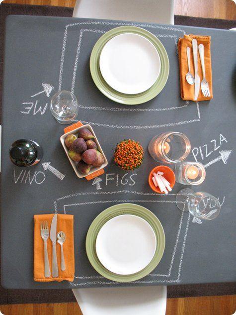 Chalkboard table... LOVE