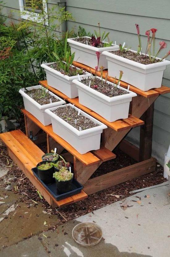 DIY Tiered Plant Stand garden gardening garden decor small garden ideas diy gardening garden ideas garden art diy garden diy darden gardening on a budget creative gardening ideas