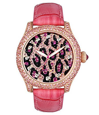 Betsey Johnson Pink Leopard Watch. I. Am. In. Love.