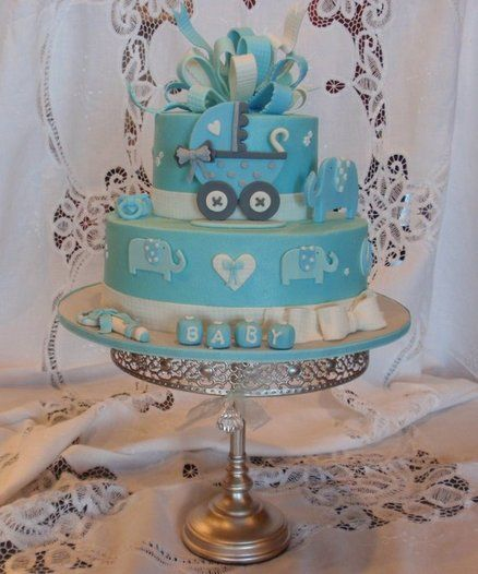 Baby Boy Baby Shower Cake  ~ all edible
