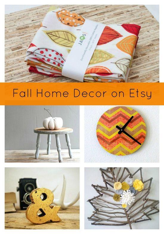 Fall Home Decor on Etsy...beautiful accessories you NEED! #etsy #fall