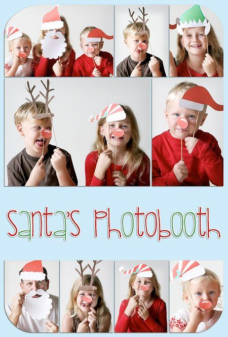 Great Christmas card idea--Santa's photo booth #Christmas