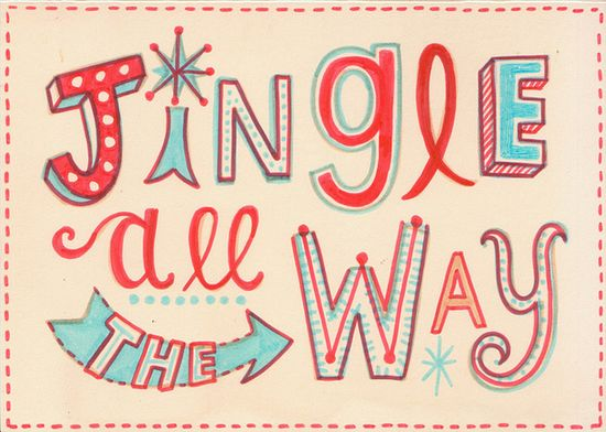 Jingle all the way (1) by Linzie Hunter, via Flickr