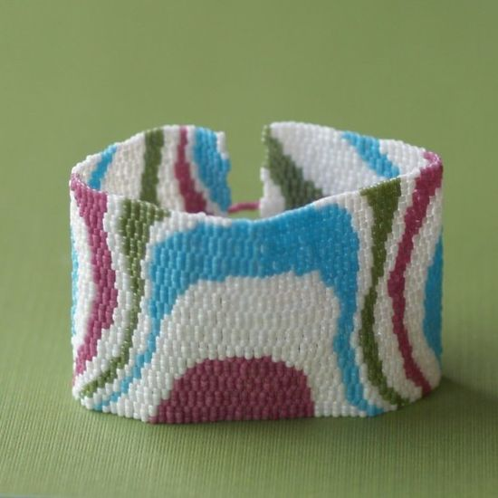 Topography Bracelet Cuff Peyote by time2cre8, $77.00 >> What an awesome bracelet! Quite the conversation piece and handmade!