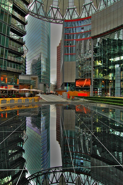 Berlin, Germany - Sony Center Reflection