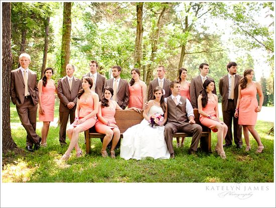 Bridal party. Looks like our dress color