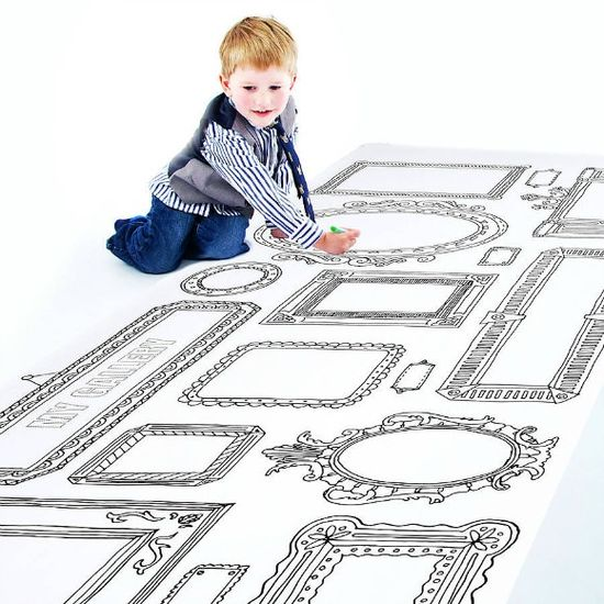 Giant Color-In Art Gallery Poster for Kids