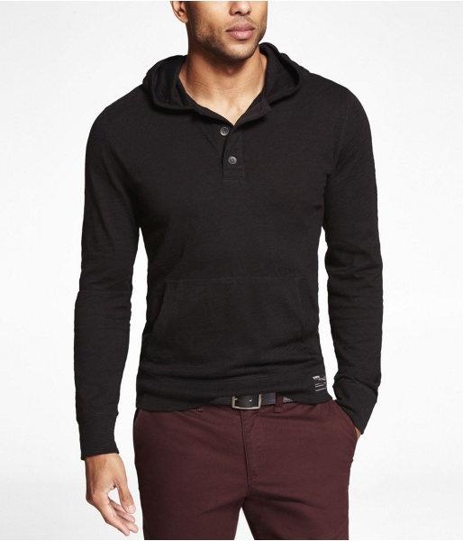 #Express Mens #Jersey #Hoodie Pitch Black $69.90 #mens #fashion #shirt