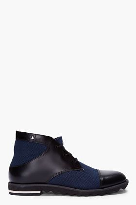 SLVR Navy Combo Desert Sneakers