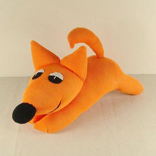 Inspiration - Handmade Orange Sock Fox Stuffed Animal Doll by supersockmonkeys.