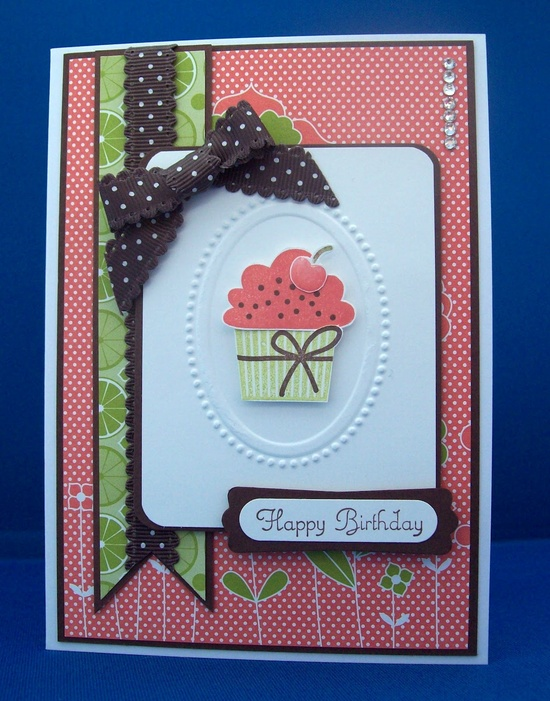 White House Stamping: Berry Blossom Cupcakes...stampin up