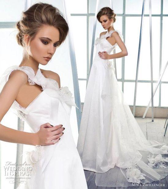 #mira zwillinger 2012 wedding dress  shoulder dresses #2dayslook #new style #shoulderdresses  www.2dayslook.com