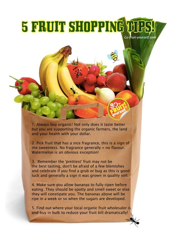 5 Fruit shopping tips #organic #health #foods