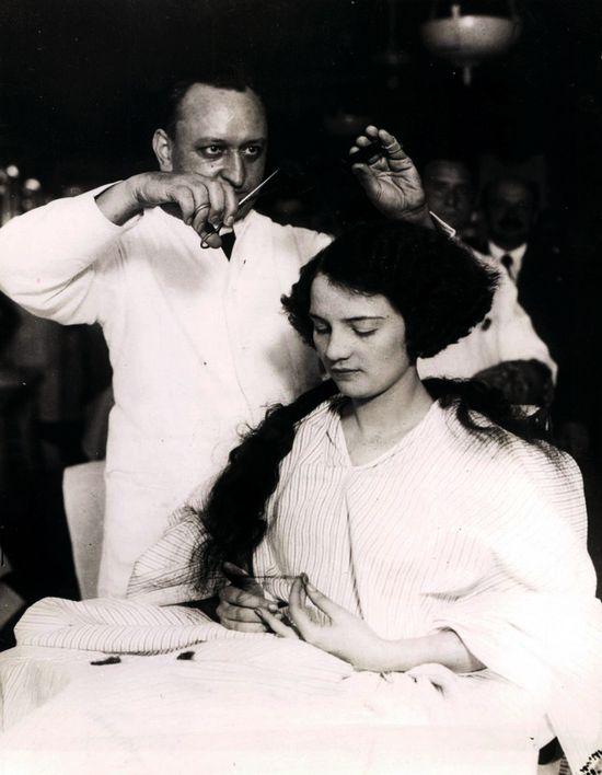 Barber Shop Women Long Hair