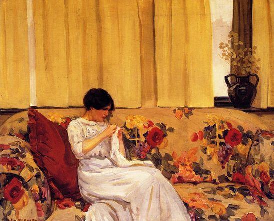 The Chintz Sofa (Helen Galloway McNicoll - )